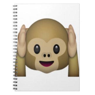 Cadernos Espiral Não ouça nenhum macaco mau - Emoji