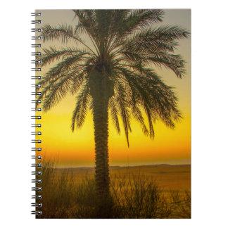 Cadernos Espiral Nascer do sol da palmeira