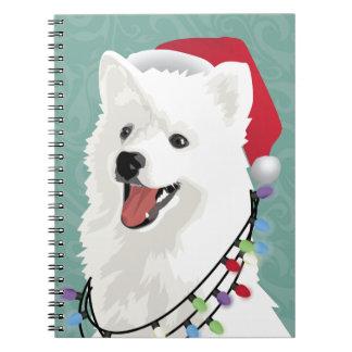 Cadernos Espiral Natal bonito do cão de filhote de cachorro do