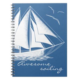 Cadernos Espiral Navigação impressionante, náutica