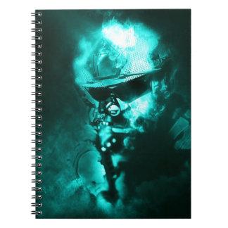 Cadernos Espiral néon do soldado
