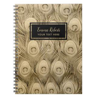 Cadernos Espiral Nome luxuoso do costume das penas de pássaro do