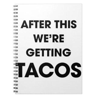 Cadernos Espiral Nós estamos obtendo o Tacos