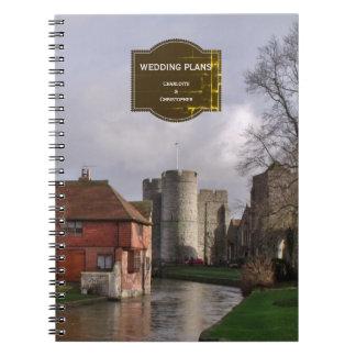 Cadernos Espiral Notas tormentosos do plano do casamento do castelo