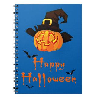 Cadernos Espiral o Dia das Bruxas feliz