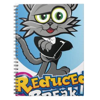 Cadernos Espiral O gato louco reduzido da ruptura!