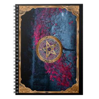 Cadernos Espiral O Pentagram pagão de Wiccan altera o pano