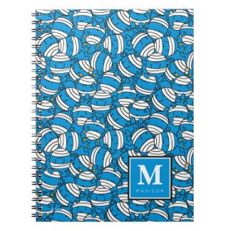 Cadernos Espiral O teste padrão azul | da confusão do Sr. Colisão |
