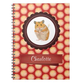 Cadernos Espiral O vermelho adiciona seu hamster conhecido
