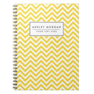 Cadernos Espiral O ziguezague amarelo e branco listra o teste
