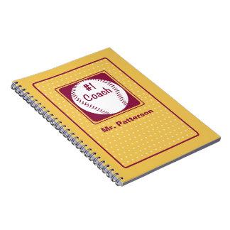 Cadernos Espiral Obrigados treinador, obrigados número 1