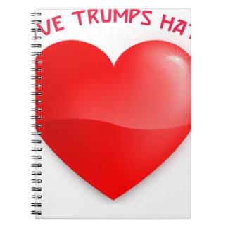 Cadernos Espiral ódio dos trunfos do amor