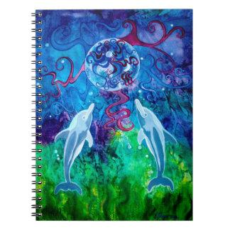 Cadernos Espiral Olhar 6,5 x 8,75 do golfinho