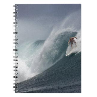 Cadernos Espiral Onda surfando abstrata do mar