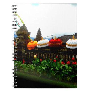 Cadernos Espiral Original do respingo de Bali do guarda-chuva