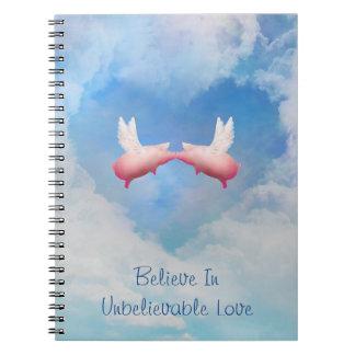 Cadernos Espiral Os porcos do vôo Beijar-Acreditam no amor