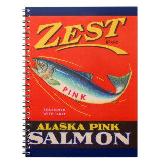 Cadernos Espiral os salmões do rosa do entusiasmo dos anos 30 podem