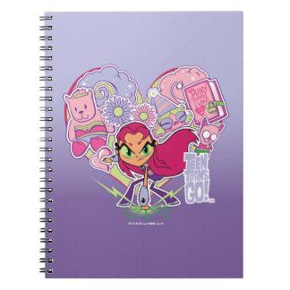 Cadernos Espiral Os titã adolescentes vão! gráfico do perfurador do
