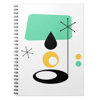 Cadernos Espiral ouro moderno do azul do design da lâmpada do meio