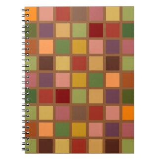 Cadernos Espiral Outono esquadrado