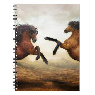 Cadernos Espiral Paisagem da natureza da arte de Digitas dos