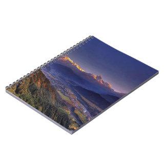 Cadernos Espiral Paisagem da vista: HIMALAYA POKHARA NEPAL