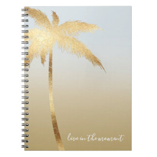 Cadernos Espiral Palmeira Ombre do ouro