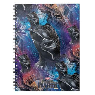 Cadernos Espiral Pantera preta preta de pantera | & teste padrão de