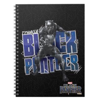Cadernos Espiral Pantera preta | T'Challa - gráfico da pantera