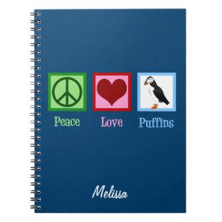 Cadernos Espiral Papagaio-do-mar do amor da paz