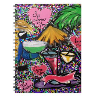 Cadernos Espiral Papagaio do partido dos namorados