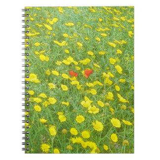 Cadernos Espiral Papoilas da aguarela