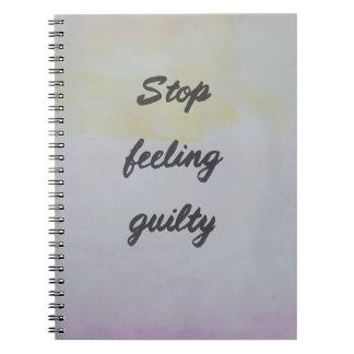 Cadernos Espiral Pare de sentir culpado