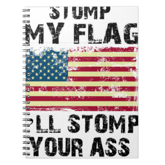 Cadernos Espiral pare minha bandeira que eu stomp seu