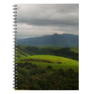 Cadernos Espiral Parque seco da angra com aproximação da tempestade