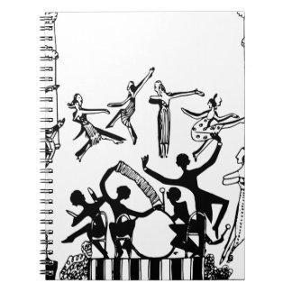 Cadernos Espiral Partido vívido com dança