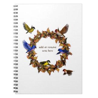 Cadernos Espiral Pássaros do outono