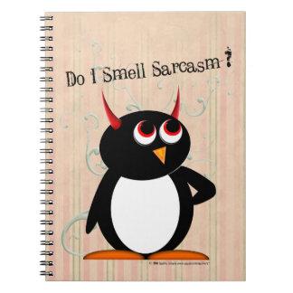 Cadernos Espiral Pasta engraçada má de Penguin™, de volta à escola