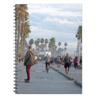 Cadernos Espiral patinagem à praia de Veneza