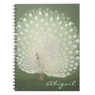 Cadernos Espiral Pavão japonês das belas artes | do vintage