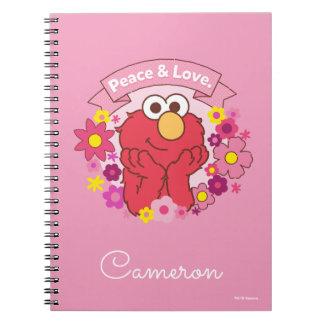 Cadernos Espiral Paz & amor de Elmo |