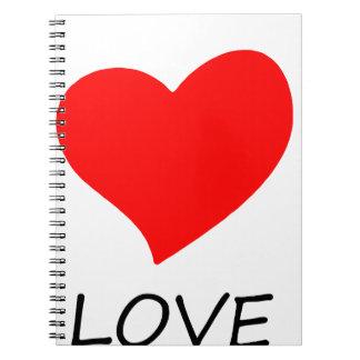 Cadernos Espiral paz love12
