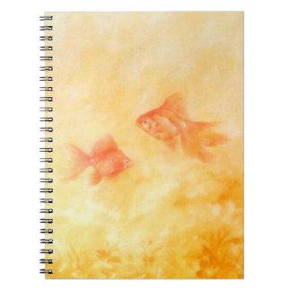 Cadernos Espiral Peixe dourado dois
