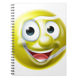 Cadernos Espiral Personagem de desenho animado do homem da bola de