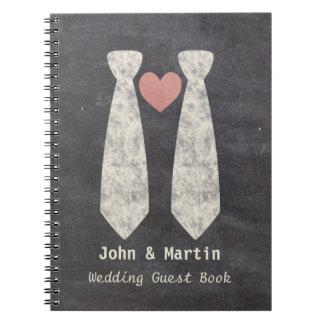 Cadernos Espiral Picareta alegre do bolo de casamento do quadro do