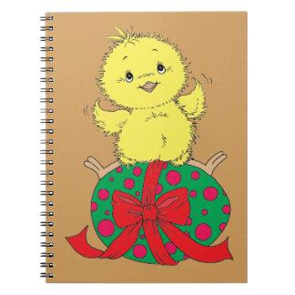 Cadernos Espiral Pintinho no ovo da páscoa
