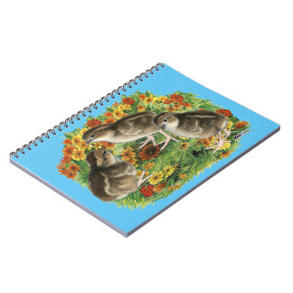 Cadernos Espiral Pintinhos do jardim da codorniz