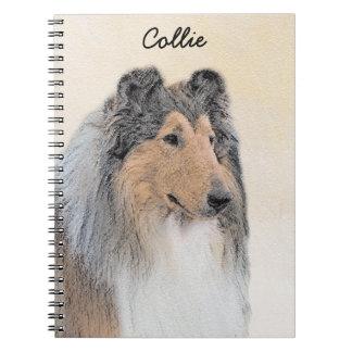 Cadernos Espiral Pintura (áspera) do Collie - arte original bonito