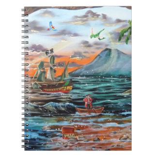 Cadernos Espiral Pintura de Bell do funileiro da angra do gancho de