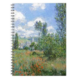 Cadernos Espiral Pista nos campos da papoila - Claude Monet